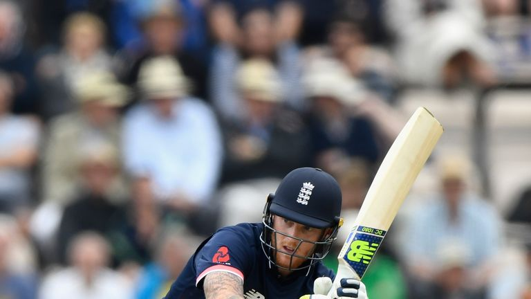 England batsman Ben Stokes hits out during the 2nd Royal London One Day International between England and South Africa