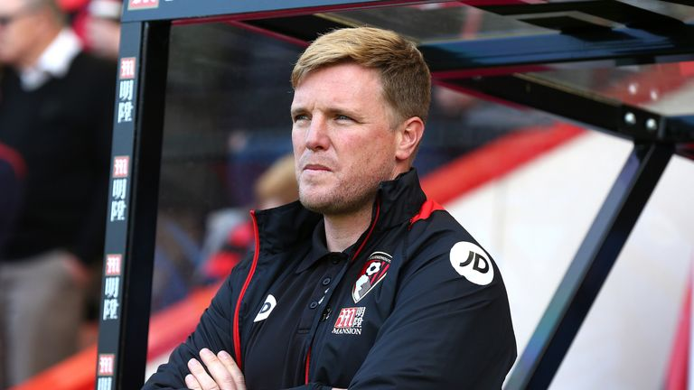 Eddie Howe prior to the match between Bournemouth and Burnley at the Vitality Stadium