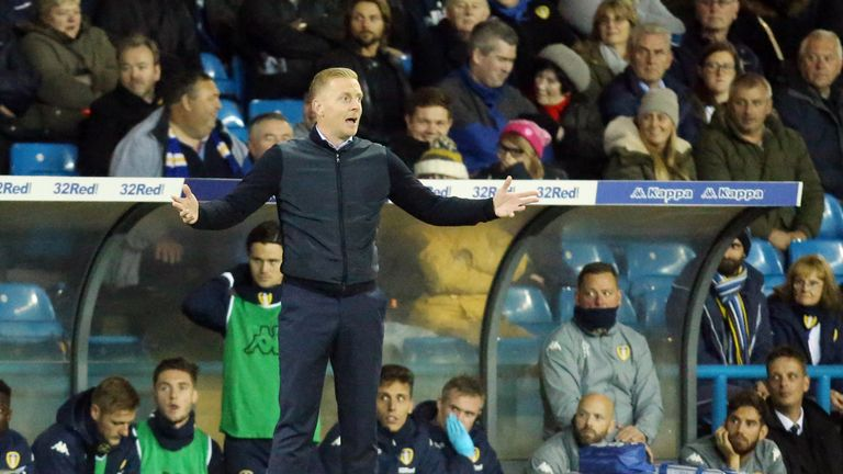 Leeds United manager Garry Monk during the Sky Bet Championship match at Elland Road, Leeds.