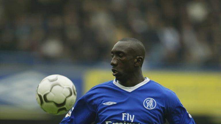 LONDON - MAY 1: Jimmy Floyd Hasselbaink of Chelsea during the FA Barclaycard Premiership match between Chelsea and Southampton at Stamford Bridge on May 1,