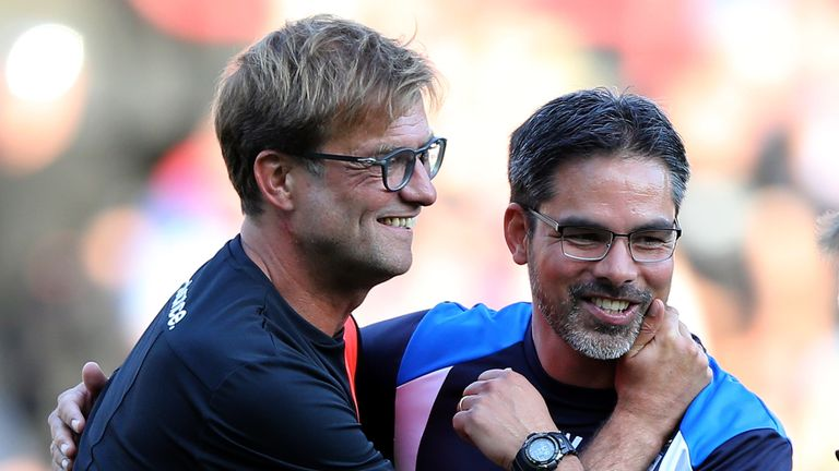 David Wagner (right) has taken advice from friend Jurgen Klopp this week ahead of the play-offs