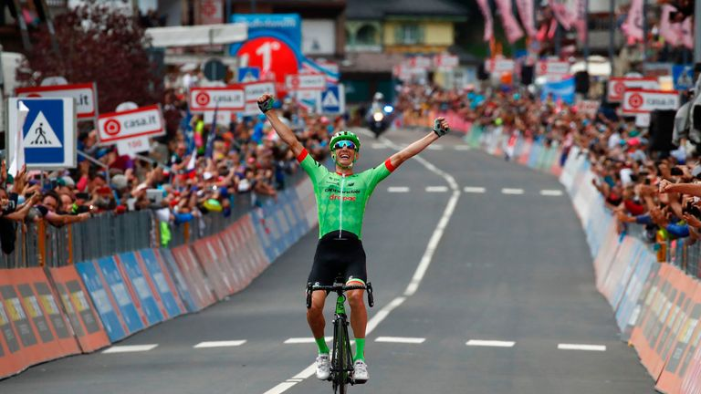 Pierre Rolland took Stage 17 for a first Giro d'Italia stage win