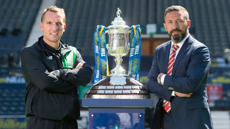 Celtic manager Brendan Rodgers and Aberdeen manager Derek McInnes will  meet in the Scottish Cup final
