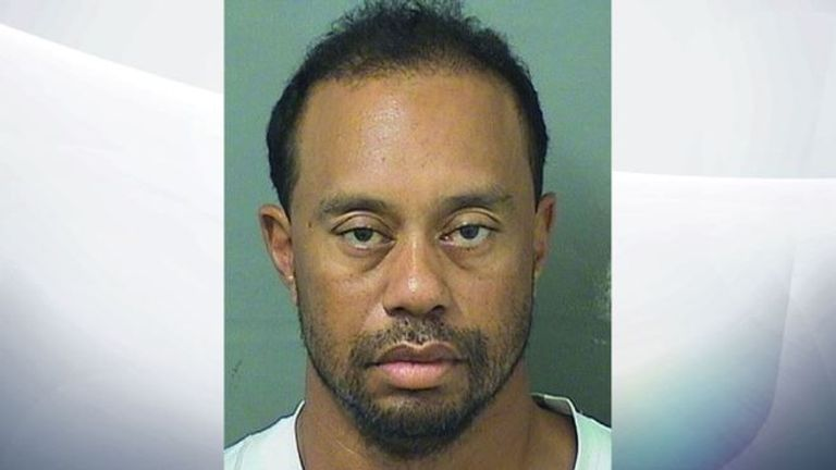 Tiger Woods was arrested in the early hours on Monday