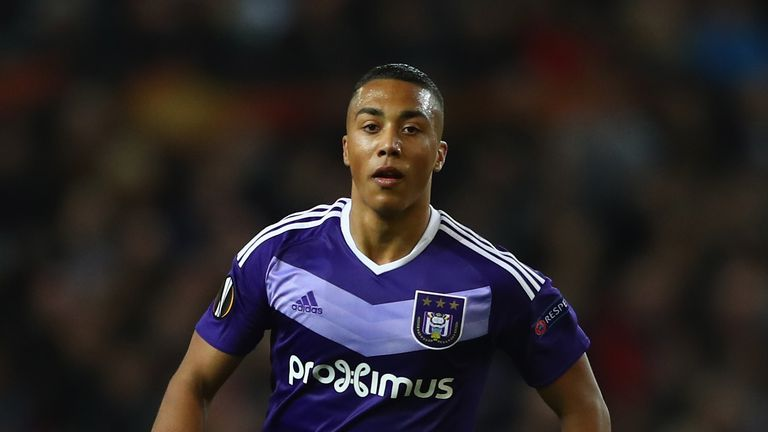 Youri Tielemans of Anderlecht during the UEFA Europa League quarter- final second leg match against Manchester United