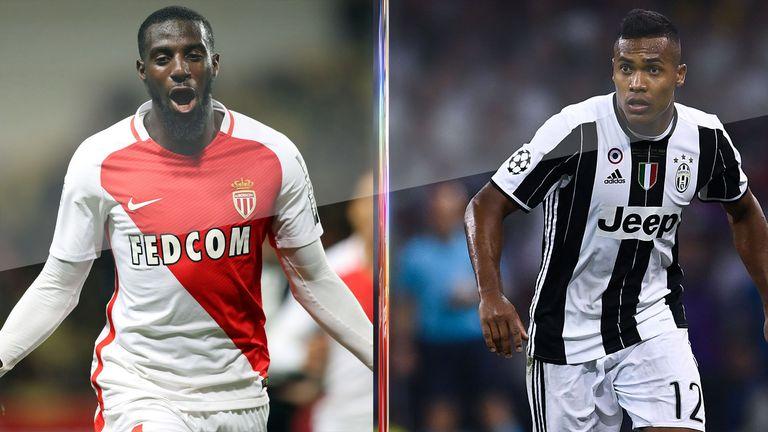 Monaco's Tiemoue Bakayoko and Juventus' Alex Sandro could be on their way to Stamford Bridge