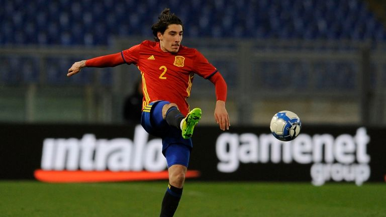 Arsenal's Hector Bellerin is expected to feature for Spain U21s