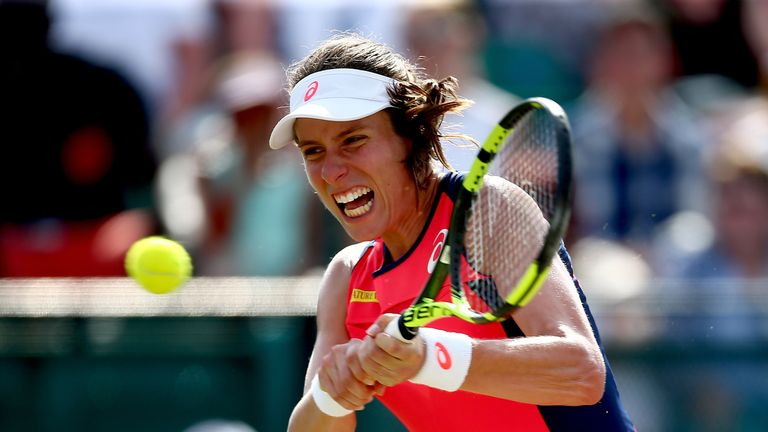 Johanna Konta lost Sunday's final to Donna Vekic in Nottingham