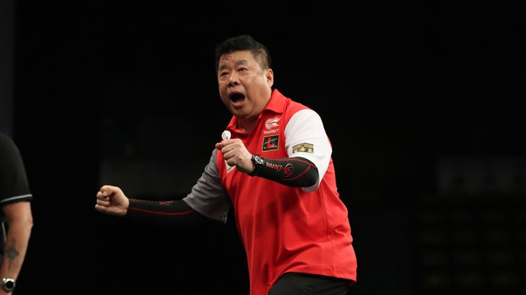 Paul Lim celebrates Singapore's stunning victory