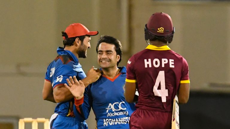 Rashid Khan (centre) and Afghanistan have been accorded full member status