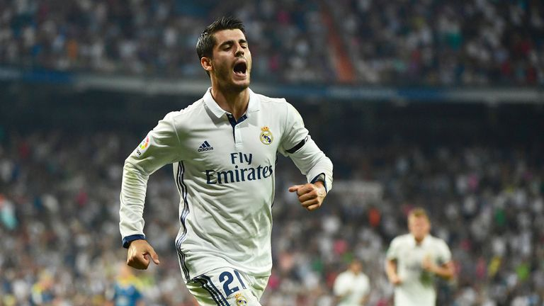 Alvaro Morata scored 20 goals in 43 appearances for Real Madrid last term