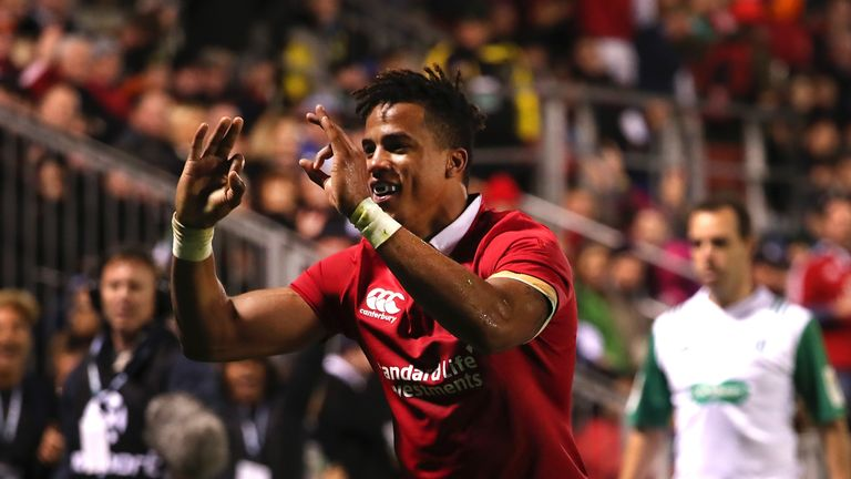 Anthony Watson in action for the British and Irish Lions