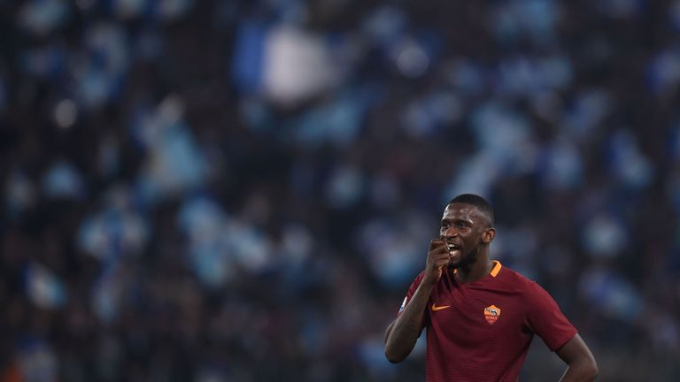 Antonio Rudiger has made 72 appearances in two seasons for Roma