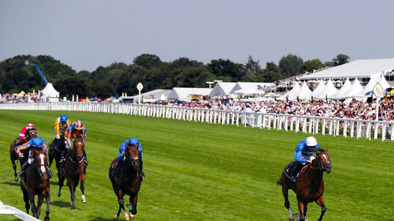 Barney Roy (right) on his way to winning the St James's Palace Stakes