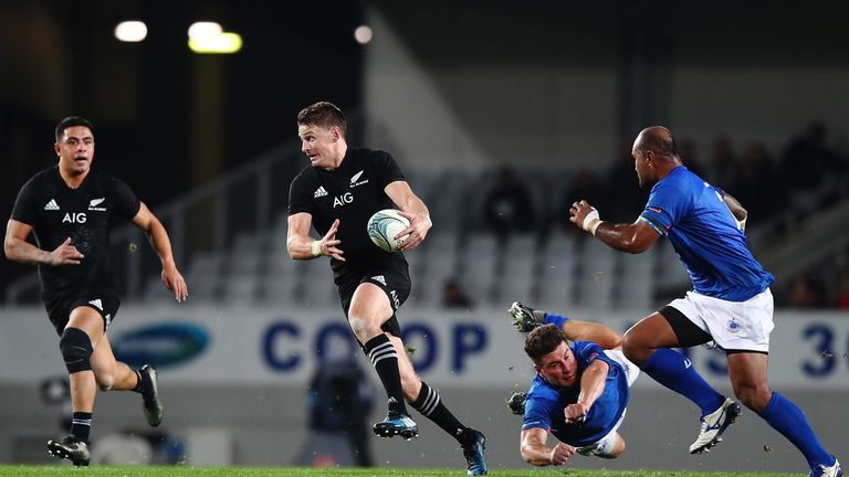 Beauden Barrett scored 24 points against Samoa