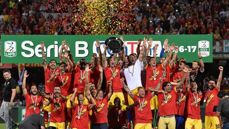 Minnows Benevento reach Serie A for the first time