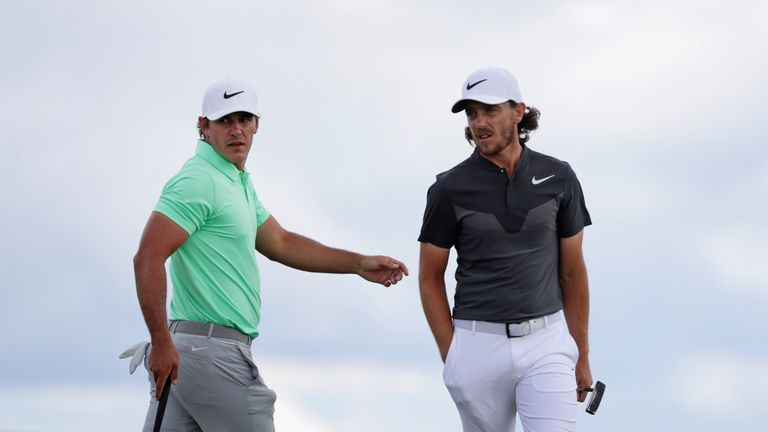 Koepka played alongside Tommy Fleetwood during the final round in Wisconsin