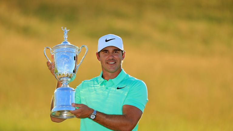 Brooks Koepka claimed a three-shot victory at Erin Hills