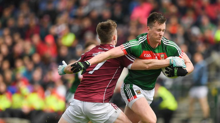 Cillian O'Connor of Mayo in action against David Wynne