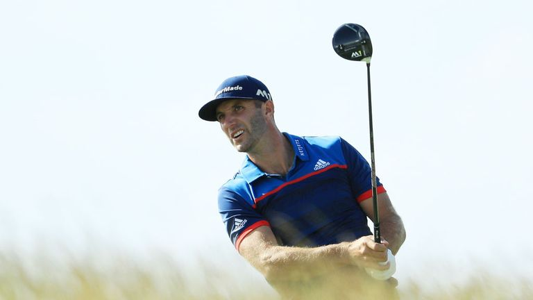 Dustin Johnson missed the cut at the US Open