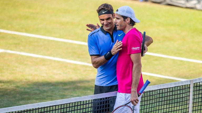Roger Federer suffered an early exit to Tommy Haas last year