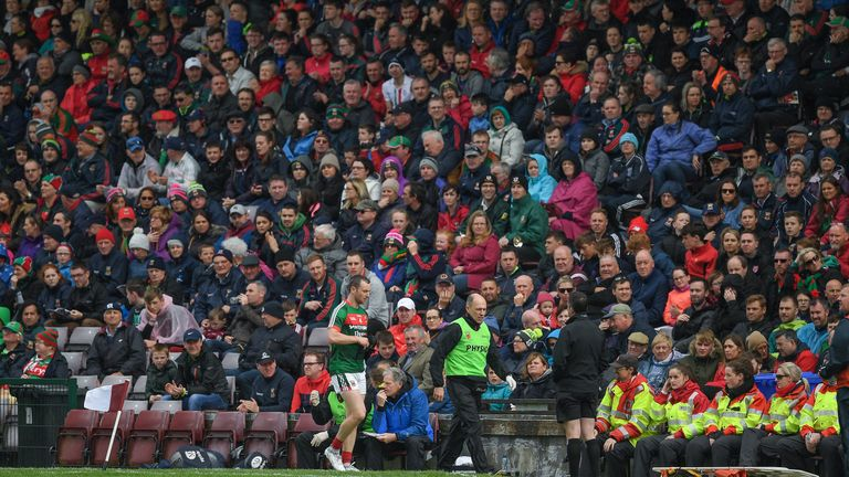 Keith Higgins of Mayo was sent off