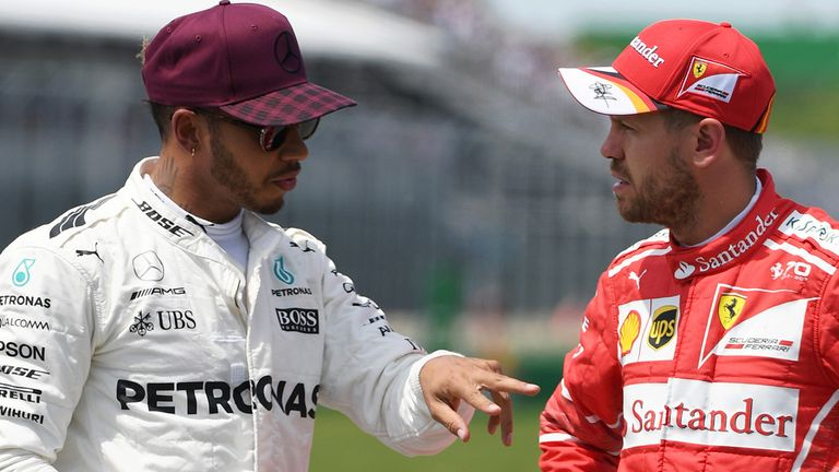 Картинки по запросу Vettel Hamilton Baku Sky Sports