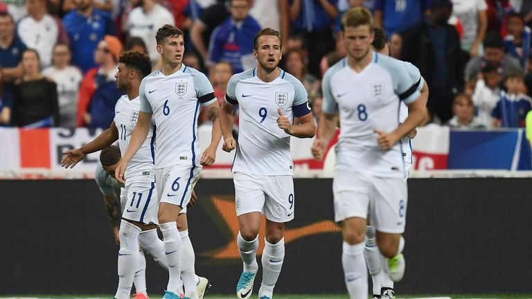 Harry Kane scored twice but England were beaten by France