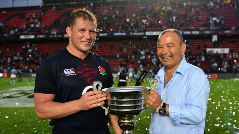 Eddie Jones' (right) side became only the second England team to complete a series whitewash in Argentina this summer
