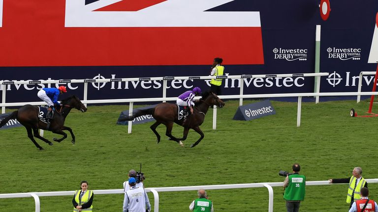 Highland Reel, ridden by Ryan Moore, wins the Coronation Cup
