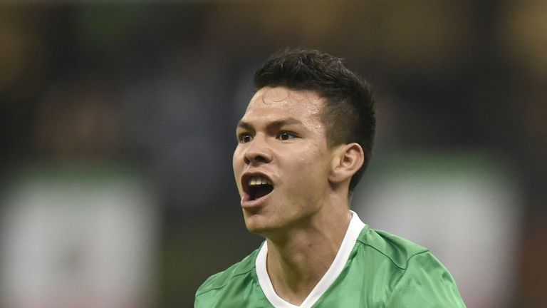 Hirving Lozano has agreed a six-year deal with PSV