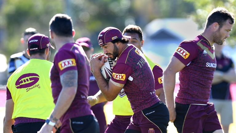 Johnathan Thurston is an injury concern ahead of Wednesday's Origin II