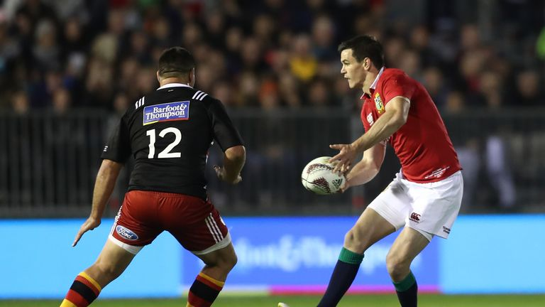 Johnny Sexton was replaced by Owen Farrell after 48 minutes