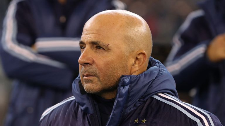 Sampaoli replaced Edgardo Bauza in April 2017