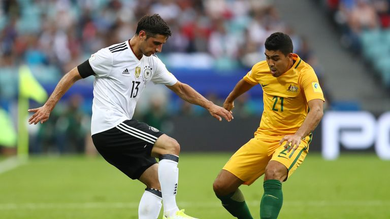 Lars Stindl (left) put Germany ahead, before goals from team-mates Joshua Kimmich and Leon Goretzka