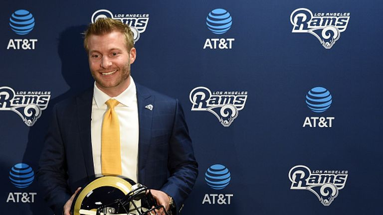 New Rams head coach Sean McVay will bring his style of offence to Los Angeles