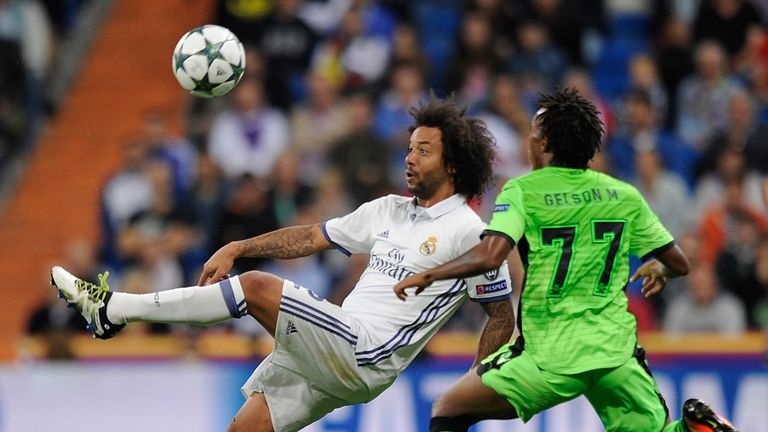 Gelson Martins was impressive against Real Madrid left-back Marcelo in the Champions League group stage