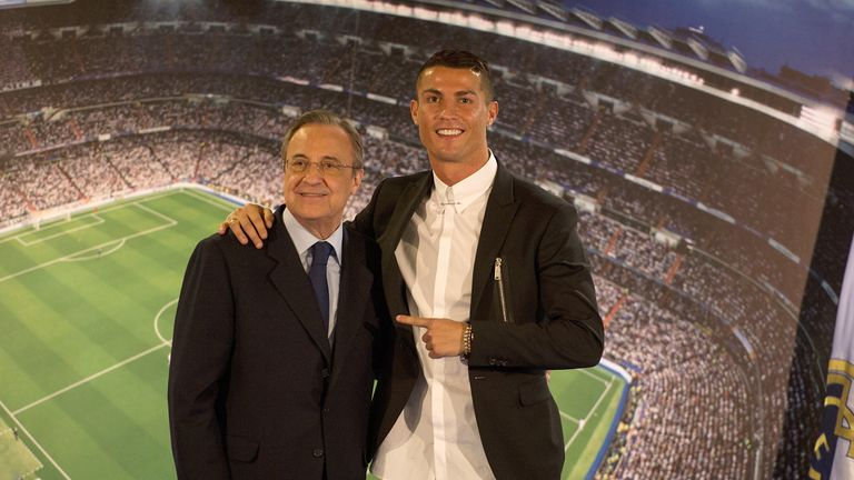 Florentino Perez is expected to speak about Cristiano Ronaldo's future on Monday evening