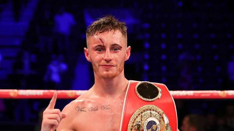 Burnett claimed the IBF bantamweight title after a split decision win over Haskins in Belfast
