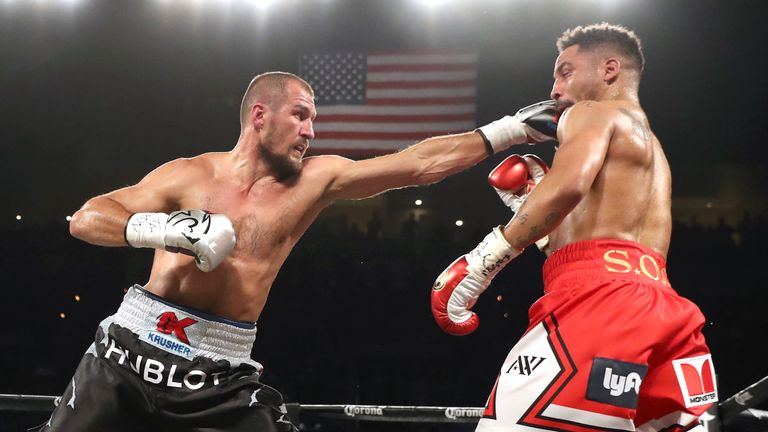 Sergey Kovalev worked well behind his jab in the early rounds