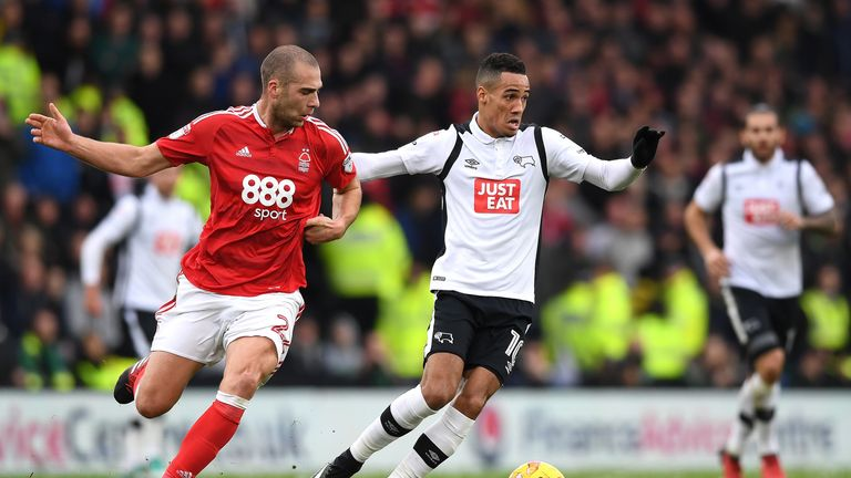 Tom Ince left Derby for Huddersfield