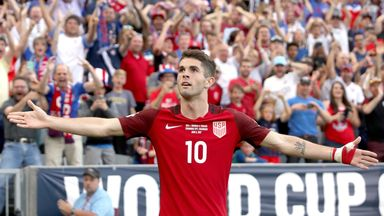 Christian Pulisic netted twice for the USA in their CONCACAF match