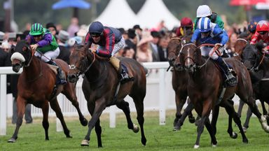 The Tin Man ridden by Tom Queally wins the Diamond Jubilee Stakes at Royal Ascot