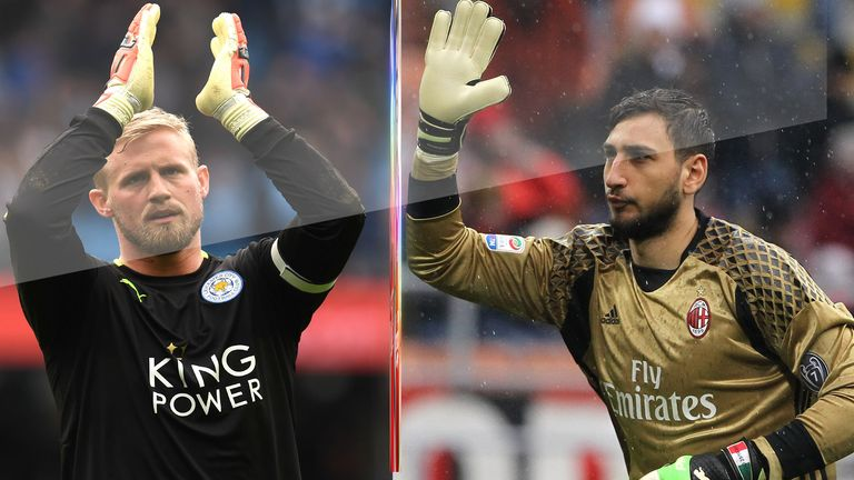 Kasper Schmeichel of Leicester City and Gianluigi Donnarumma of AC Milan are just two of the in-demand goalkeepers in Europe this summer.