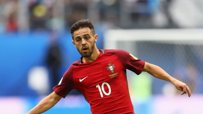 SAINT PETERSBURG, RUSSIA - JUNE 24: Bernardo Silva of Portugal in action during the FIFA Confederations Cup Russia 2017 Group A match between New Zealand a