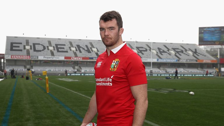AUCKLAND, NEW ZEALAND - JUNE 23:  Peter O'Mahony, who will captain the British & Irish Lions in the first test against the New Zealand All Blacks,  poses a