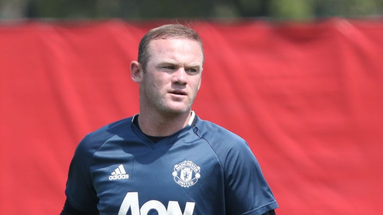 Wayne Rooney has begun training after returning from holiday