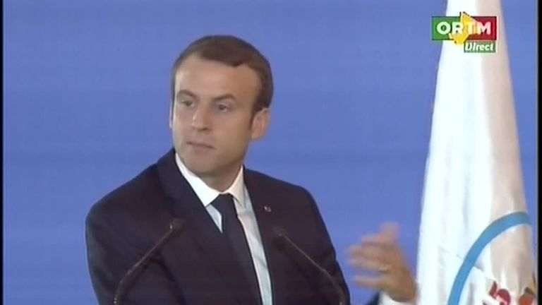 French President Emmanuel Macron is at the IOC