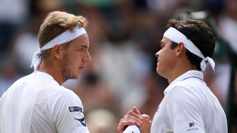 Milos Raonic Wimbledon Tennis Novak Djokovic Defeats Juan Martin