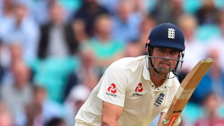 Alastair Cook scored an unbeaten 82 on day one at The Oval